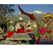 Dansing Childs - Peru Photographic Print
