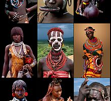 AFRICAN TRIBAL LADIES by Michael Sheridan