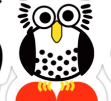 Say it with Owls Sticker
