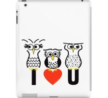 Say it with Owls iPad Case/Skin