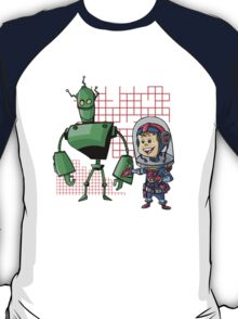 SpaceKid and Leader001 of the GreenBot Planet T-Shirt