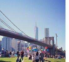 Blue skies in Brooklyn by pennypocket
