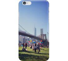 Blue skies in Brooklyn iPhone Case/Skin