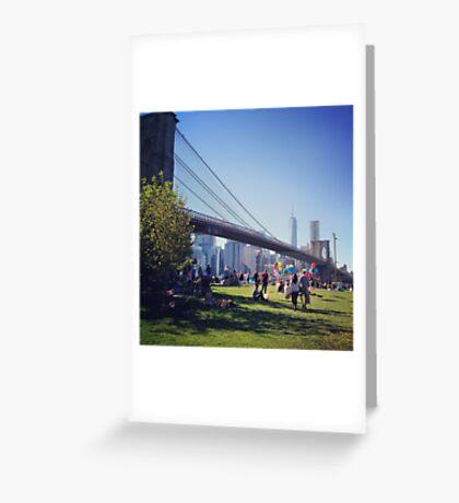 Blue skies in Brooklyn Greeting Card