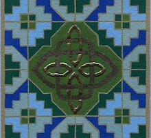 Celtic Step & Knot, green by Marta Lett