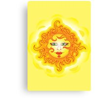 Abstract Sun Canvas Print