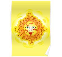 Abstract Sun Poster