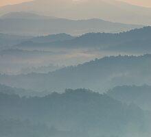 smoky mountain ridges by dc witmer
