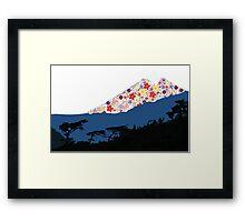 Mount Bloom Framed Print