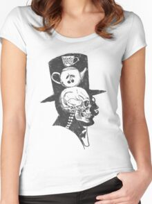 A gentlemen's X-ray Women's Fitted Scoop T-Shirt
