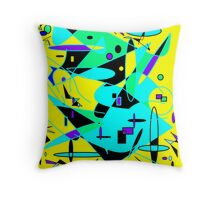 Abstract Flowing Throw Pillow
