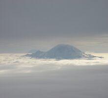 Mt Rainier floating in the clouds by wegies