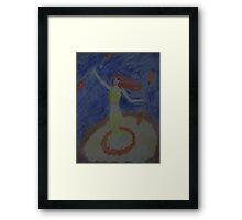 Fire Dancer Framed Print