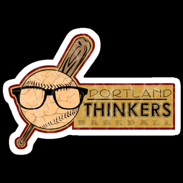 Portland Thinkers Baseball by Tracey Gurney