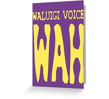 Waluigi Voice Shirt Greeting Card
