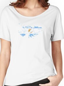 Argentine Flag Map of Islas Malvinas Women's Relaxed Fit T-Shirt