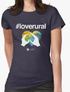 #loverural for dark backgrounds Womens Fitted T-Shirt