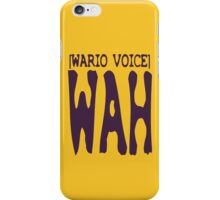 Wario Voice Shirt iPhone Case/Skin