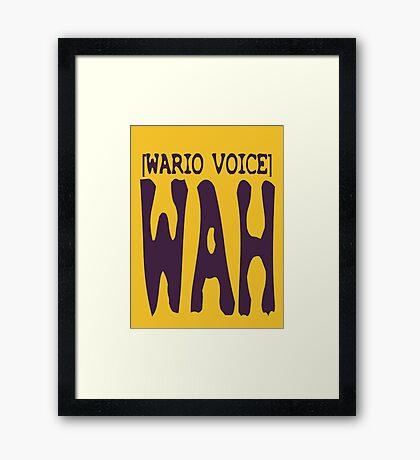Wario Voice Shirt Framed Print