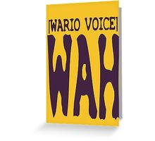 Wario Voice Shirt Greeting Card