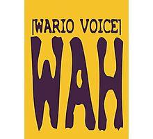 Wario Voice Shirt Photographic Print
