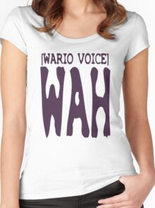 Wario Voice Shirt Women's Fitted Scoop T-Shirt