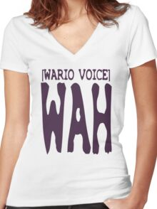 Wario Voice Shirt Women's Fitted V-Neck T-Shirt