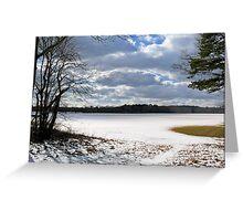 Kingston Turf Farm in Winter Greeting Card