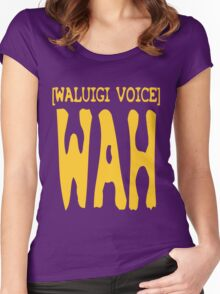 Waluigi Voice Shirt Women's Fitted Scoop T-Shirt