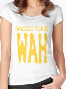 Waluigi Voice Shirt Women's Fitted Scoop T-Shirt