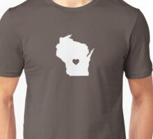 Wisconsin Heart Unisex T-Shirt