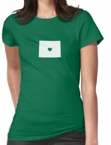 Wyoming Heart Womens Fitted T-Shirt