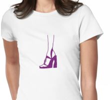 high heeled sandal Womens Fitted T-Shirt