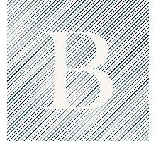 Striped B Photographic Print
