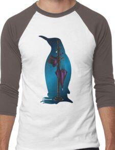 The Penguins Personals (Blue) Men's Baseball ¾ T-Shirt