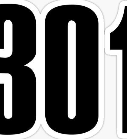 301 Maryland | Phone Area Code Shirts Stickers Sticker
