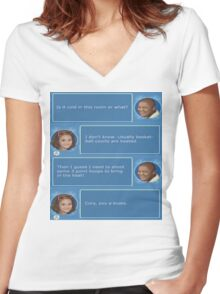 Cory in the House nintendo DS Women's Fitted V-Neck T-Shirt