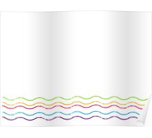 Colorful Curves Poster