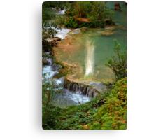 Moony Falls Reflection Canvas Print