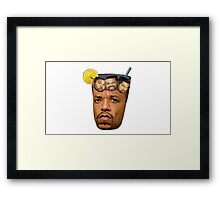Just Some Ice Tea and Ice Cubes Framed Print