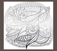 Grey Pattern One Piece - Short Sleeve