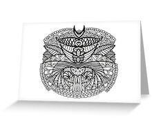 Black White Pattern  Greeting Card