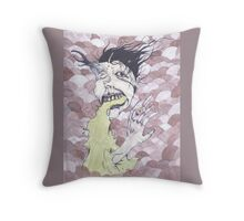 Look at her finger go! Throw Pillow