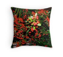 Red Berries Throw Pillow