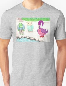 Frog, Hamster, Bird Unisex T-Shirt