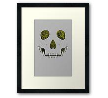 SKULLFACE #1 - YELLOW Framed Print