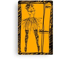 lady in tutu and stockings Canvas Print