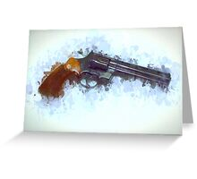 Revolver Drip Greeting Card