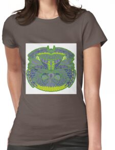 Green Ornate Decor Womens Fitted T-Shirt