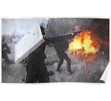 Ukraine Riot Drip Poster